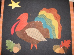 Unfinished Turkey Mat