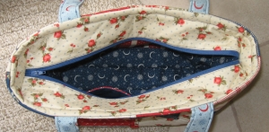 Zippered Charm Tote Top