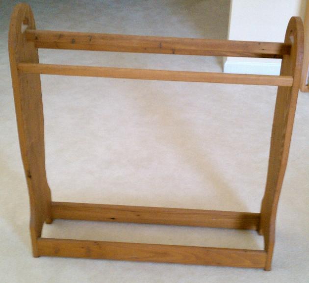 wooden quilt rack