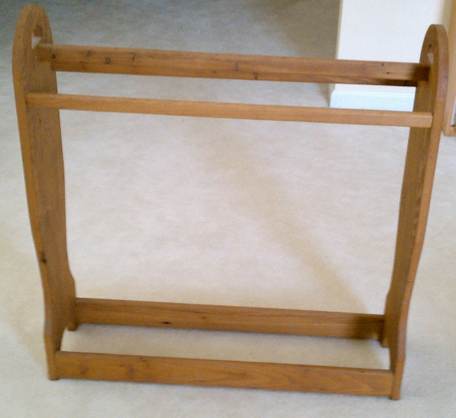 free wooden quilt rack plans