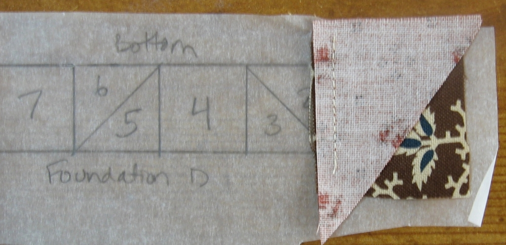 Tutorial - Foundation Piecing - Little House on the Prairie (3/6)