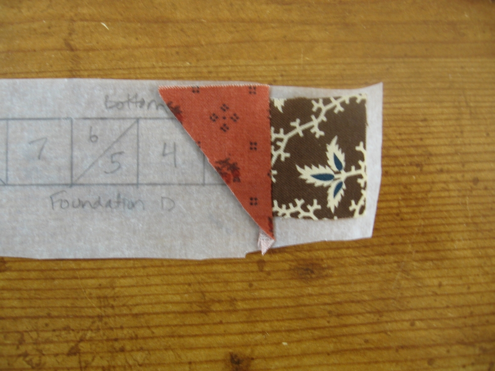 Tutorial - Foundation Piecing - Little House on the Prairie (5/6)