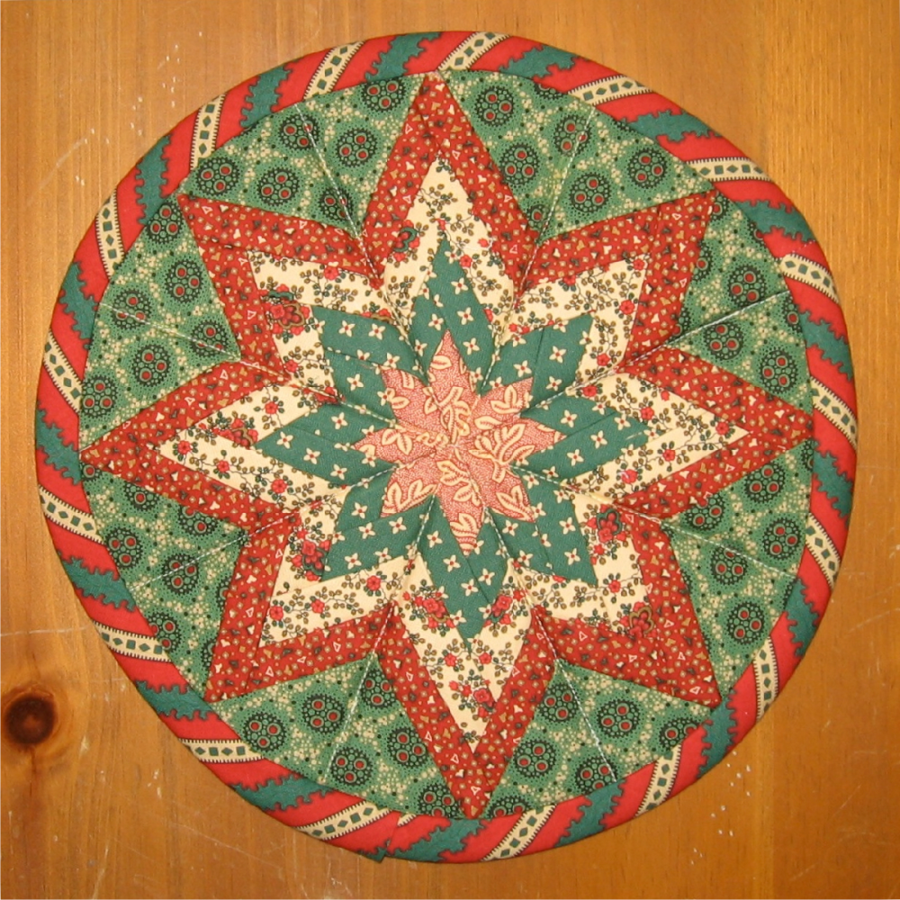 Radiant Folded Patchwork Star Pattern (2/3)