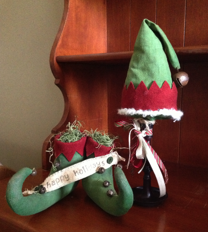Christmas Decorations - Elf Hat and Shoes