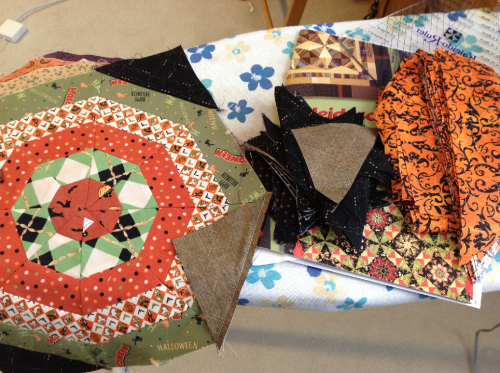 Halloween Quilt in Progress